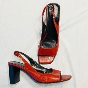Coach slingback pep heels